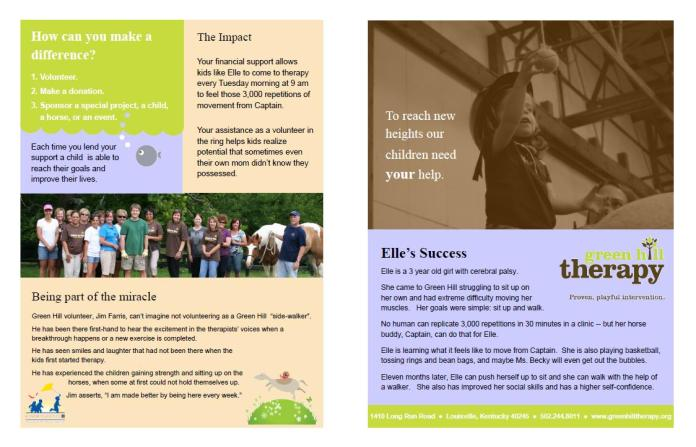 Greenhill Therapy Brochure
