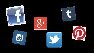 Social icon banner