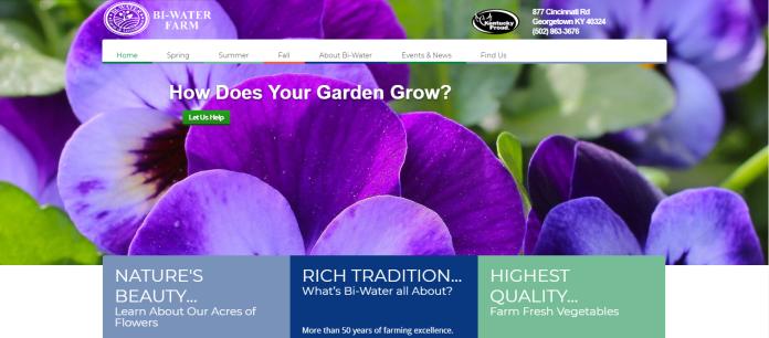 BiWater Farm website