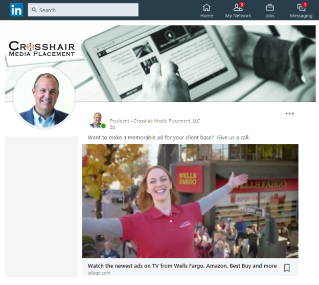 LinkedIn Crosshair